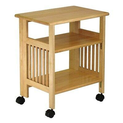 side table  wheels  small spaces   shelves