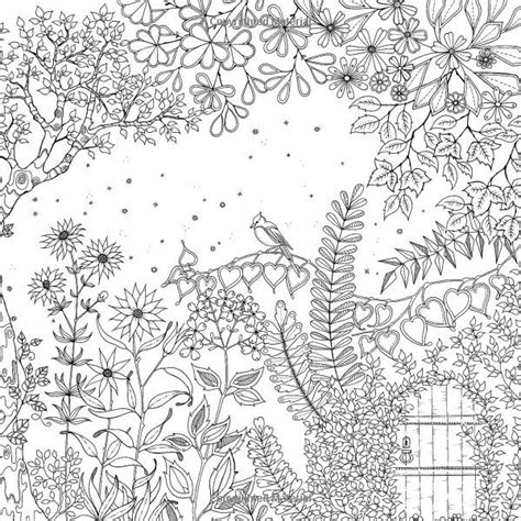 secret garden coloring book page one 17 best images about jardin secret on gardens