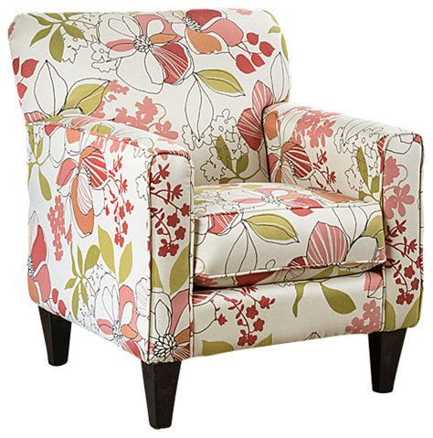 Printed Fabric Armchairs by Eli Print Fabric Track Arm Accent Club Chair