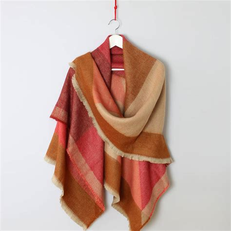 autumn geometry oversized scarf by studio hop