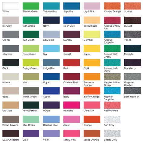 gildan shirt colors gildan shirt color chart 2016 enam t shirt