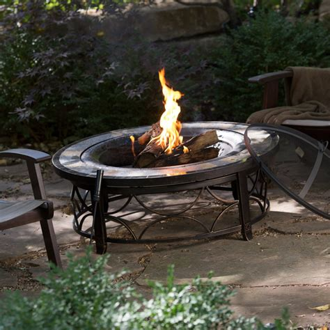 Patio Table With Firepit Outdoor Pit Table Backyard Deck Garden Patio Fireplace Bowl Wood Heater Top Pits