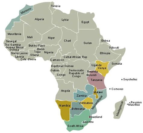 south africa map countries map of botswana africa
