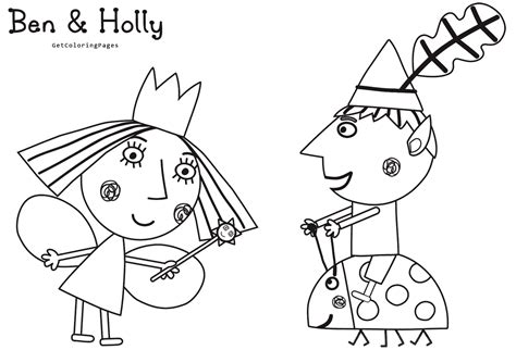 princess holly coloring page coloring ben and holly pages for kids ben and holly