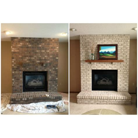 fireplace paint kit lighten brighten  brick