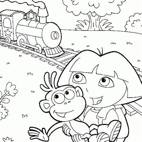 Dessin De Dora Qui Prend Le Train Coloriages De Dora 224 Coloriage Train Wagon Imprimer L