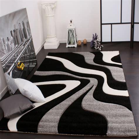 teppich schwarz weiß schlafzimmer gestalten in blau