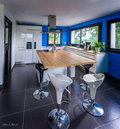Mur Bleu Cuisine by Cuisine Bois Mur Bleu Wraste