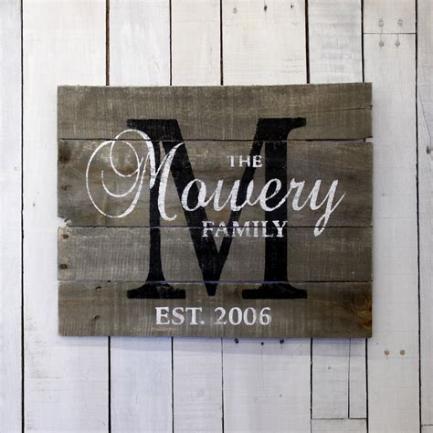 custom wood sign pallet last custom wood sign pallet last name sign by everydaycreationsjen