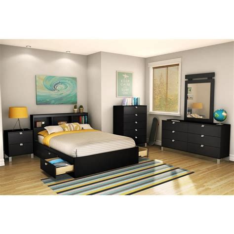 mates bed south shore mates bed solid black the home depot canada