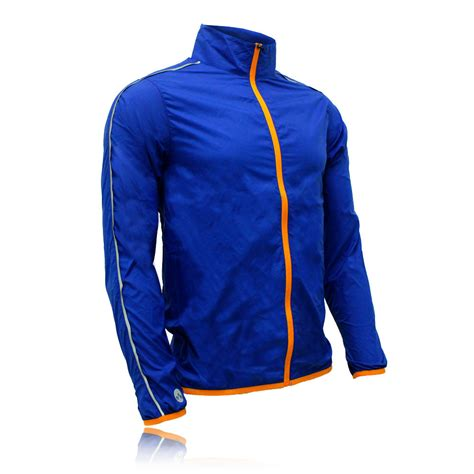Blue Zip higherstate lightweight mens orange blue running sports zip jacket top