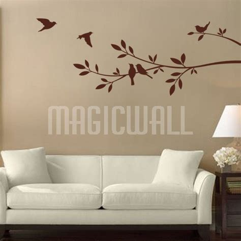wall decals birds branch wall stickers