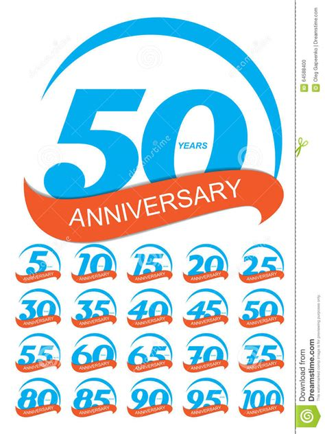 anniversary logo template template logo anniversary set vector illustration stock
