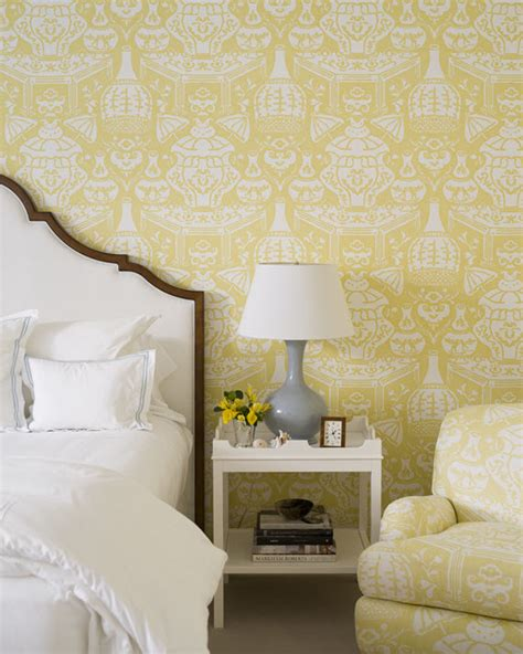 yellow wallpaper bedroom j k kling interior design simplified bee