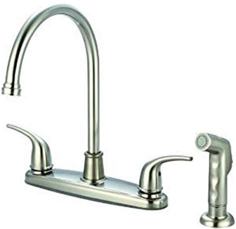 olympia faucets k 5372 orb two handle kitchen faucet oil rubbed bronze finish larissasilvadee01 olympia faucets k 5372 bn two handle kitchen faucet pvd