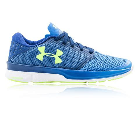 armour sports shoes armour charged reckless womens blue running sports