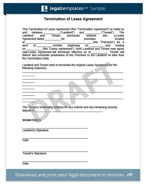 Lease Termination Letter India Make A Free Lease Termination Letter In Minutes Templates