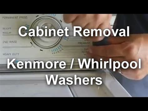whirlpool washer cabinet removal how to open and remove a panel whirlpool maytag