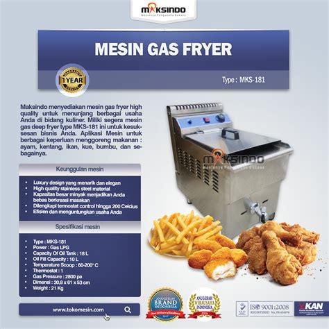 Jual Thermometer Fryer jual mesin gas fryer 17 liter mks 181 di bandung toko