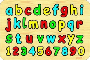 setiap anak unik puzzle huruf