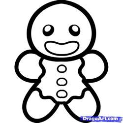 draw gingerbread man kids step step christmas stuff seasonal free