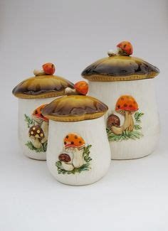 large kitchen ceramic canisters set cookie jar coffee 1000 images about everything mushroom on pinterest