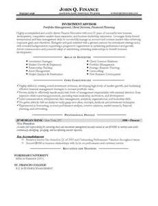 Sle Investment Portfolio Templates by Service Advisor Resume