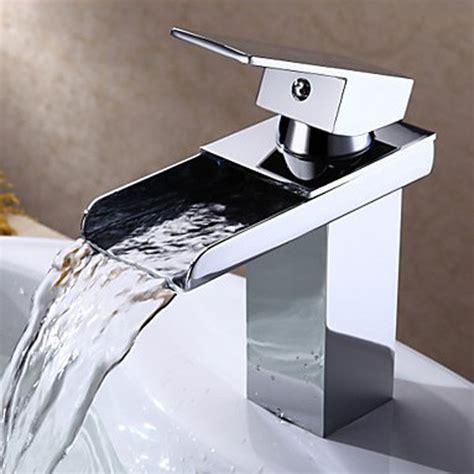 Modern Brass Bathroom Fixtures Brass Square Waterfall Faucet Modern Bathroom Faucet