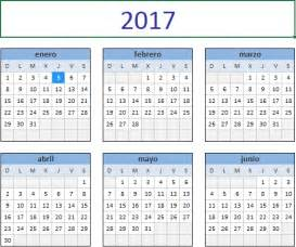 Ver Calendario 2017 Descarga El Calendario 2017 En Excel Excel Total