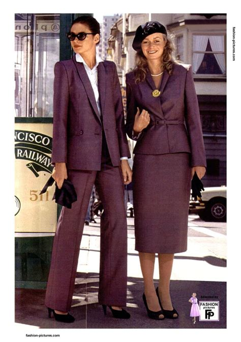 1980 s fashion and home on pinterest 19 pins 1980 women s fashion 1980 r0506 purple trousers suit
