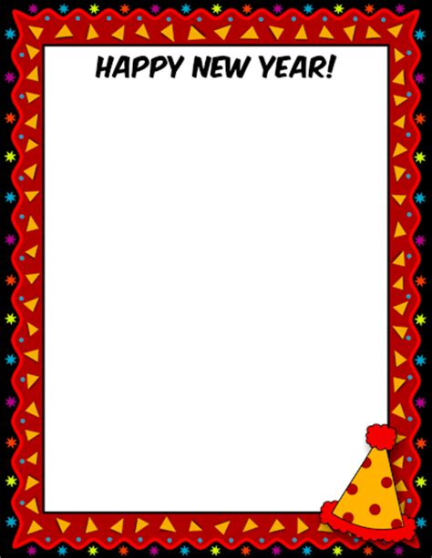 new year printable border new page borders for and new year s