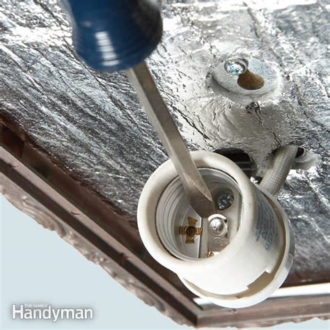 repair a light fixture the family handyman