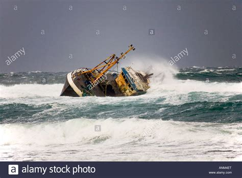 fishing boat accident fraserburgh beached grounded wreck of banff fishing vessel boat bf 380