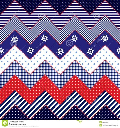 nautical pattern background quilting design in nautical style stock vector image