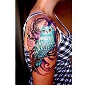 Tatuagens De Coruja Na Perna Pulso Costela Fotos E