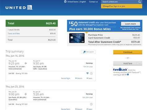 united airlines booking 629 644 houston to brazil nonstop into june r t