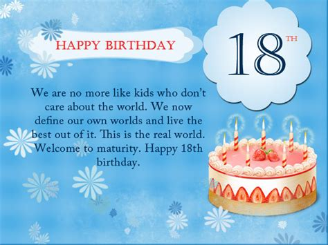 Happy Birthday Wishes For My 2 Year 18th Birthday Wishes Messages And Greeting Cards 9