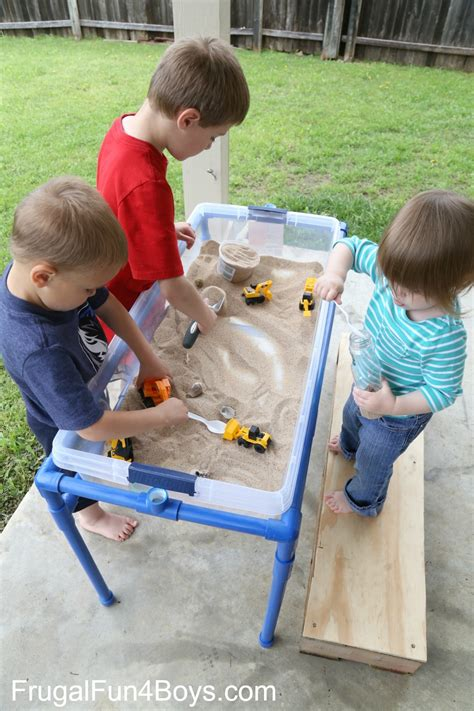 how to build a sand table how to build a pvc pipe sand and water table