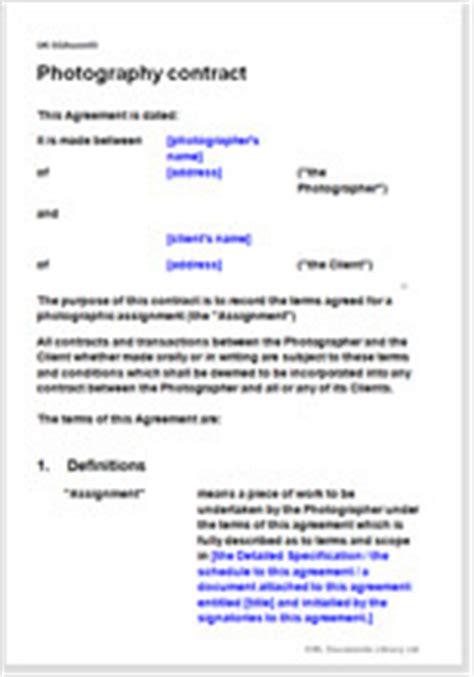 photographer contract template weddings