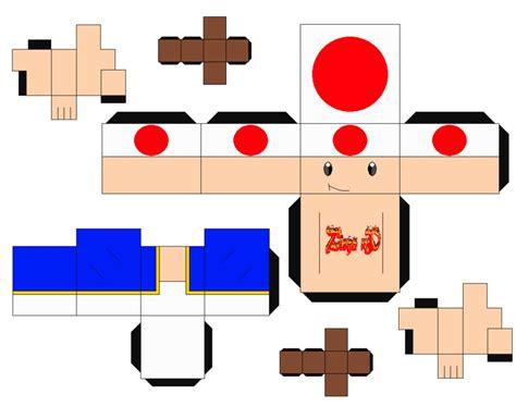 toad mario cubeecraft papercraft by marcokobashigawa
