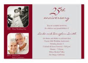wording for 25th wedding anniversary invitations 25th wedding anniversary invitation wording ideas