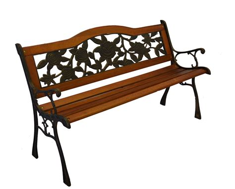 resin park bench rose bloom cast iron park bench w resin back insert for