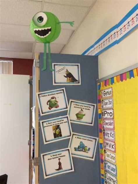 pixar classroom door monsters inc wall disney pixar classroom theme monsters