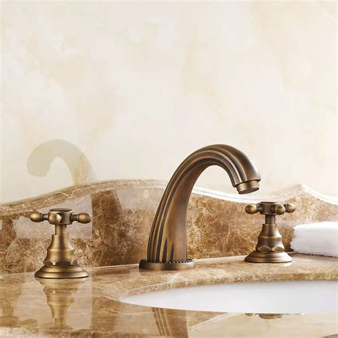 get cheap 3 bronze bathroom faucet