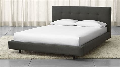 crate and barrel bed tate upholstered bed crate and barrel