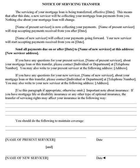 Mortgage Protection Letter Template Respa Forms Home Mortgage Consumer Protection
