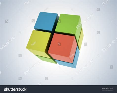 3d cubes colored abstract background stock illustration