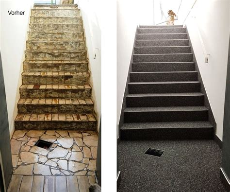 Steinteppich Auf Holztreppe by Steinteppich Preis Verlegen Selber Treppe Erfahrungen M T