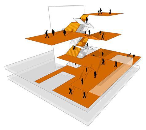 circulation patterns architecture atelier pucher amstetten school cus