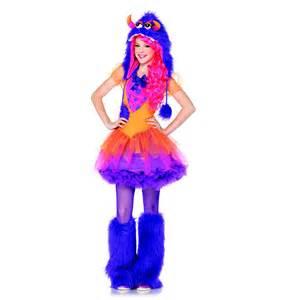leg avenue juniors furry purple monster dress halloween